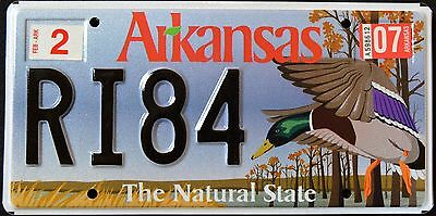 "ARKANSAS "" WILDLIFE DUCK - The Natural State "" AR Graphic License Plate"