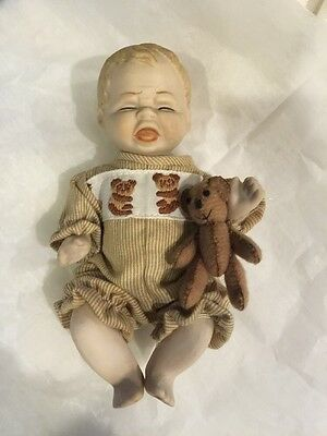 "Vintage all bisque Shackman 5"" Crying Doll"