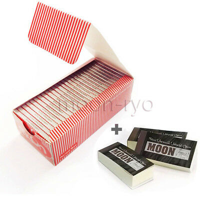 1 Box 50 Booklets Moon Red Tobacco Cigarette Rolling Papers 70*36mm 2500 Leaves