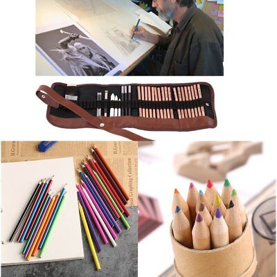 12/24/29 PCS Drawing Writing Sketching Sketch Pencil Pen Set Stationery Artists