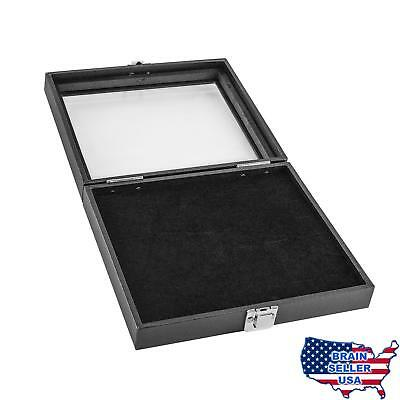 Black Wooden 36 Slot Ring Storage Box Display Case for Home Storage, Jewelry Org