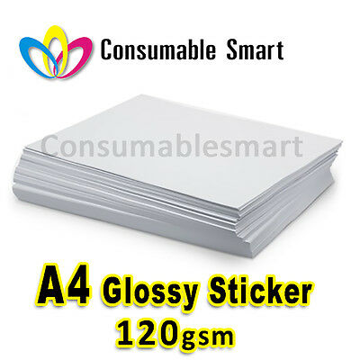 A4 120gsm Glossy Sticker Inkjet Photo Paper Water Proof UV Resistant