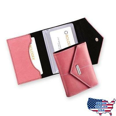 Rolodex Pink Ribbon Business Card Case, 36-Card (1734451), New, Free Ship