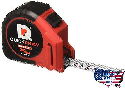 QUICKDRAW PRO DUAL-READ 26 ft / 8M (Imperial / Metric) Self Marking Tape Measure