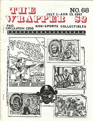 THE WRAPPER No 68 NON-SPORTS CARDS COLLECTIBLES, PIRATES BOLD, FOLD-A-ROOS  1987