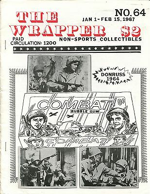 THE WRAPPER No.64   NON-SPORTS CARDS COLLECTIBLES, COMBAT, WILD WILD WEST - 1987