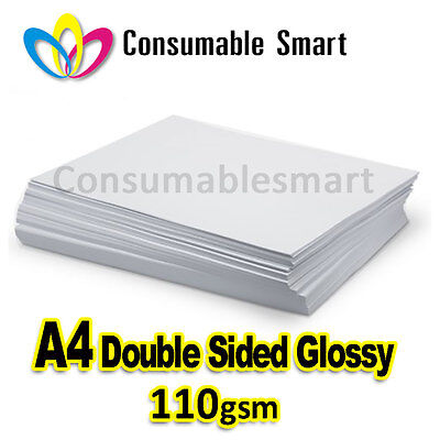 A4 110gsm Double Sided Glossy Inkjet Photo Paper Water Proof UV Resistant