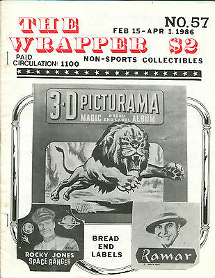 THE WRAPPER No.57  NON-SPORTS CARDS COLLECTIBLES, PLANET OF THE APES - 1986