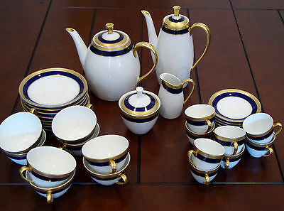 Vtg.*Verbano Industria Argentina* Porcelain Coffee and Tea Set - 36 Pieces