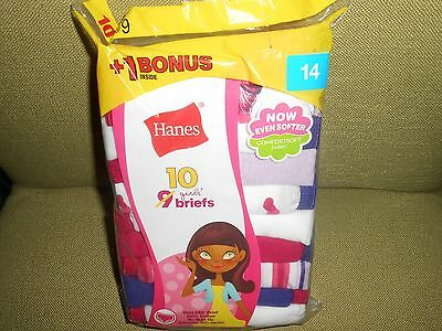 !!! Great Deal On 10 Pair Of Hanes Girls' Briefs Size 14 !!!