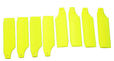 4 Pairs 450 Tail Rotor Blade For T-REX 450 GF V2 SPORT PRO Fluorescent Yellow