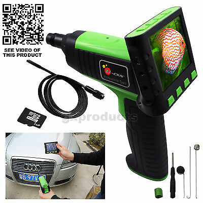 Wireless Wired Snake Scope 3.5LCD Inspection Borescope Endoscope Camera 2M Cable