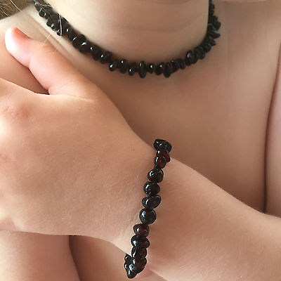 Certified Amber Anklet/Bracelet for pain releif toddler or baby child - CHERRY