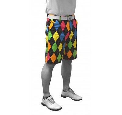 NUOVO Royal & Awesome Funky Forte Uomo Pantaloncini Da Golf - Disco Diamanti