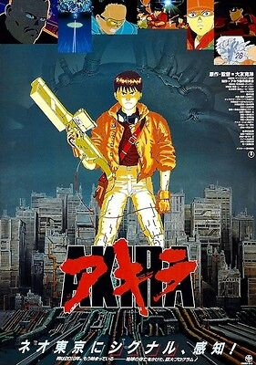 AKIRA Japanese Release POSTER 1989 Anime Rare LARGE