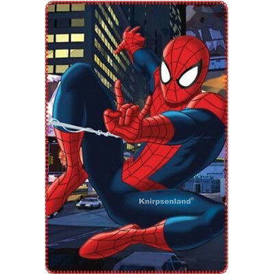 SpiderMan Fleecedecke Decke 120 x 140 Fleece Kinder Kinderdecke Kuscheldecke