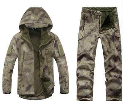 Tactical Gear Softshell Camouflage Military Jacket Men Army Warm Coats + Pants