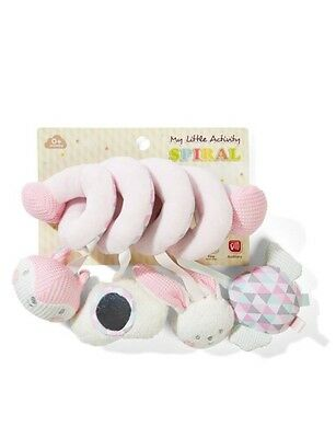 Baby Pink Spiral Activity Toy For Newborn & Baby | Pram Stroller Soft Plush Toy
