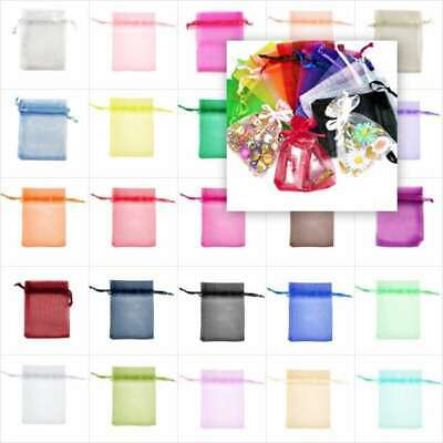 25pcs Organza Bags Wedding Favor Jewelry Candy Gift Packing Pouch 7Size 26 Color