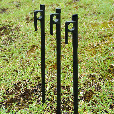 20cm HEAVY DUTY High Strength STEEL Camping Outdoor Tent Canopy Stakes Pegs