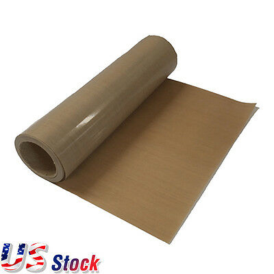 """USA 39"""" x5 Yard Teflon Fabric Sheet Roll 5Mil Thickness for Sublimation Printing"""