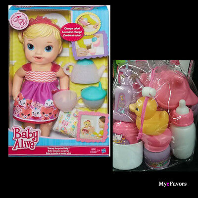 20pc Baby Alive Teacup Surprise Blonde Girls Pretend Doll Accessories Gift Bag
