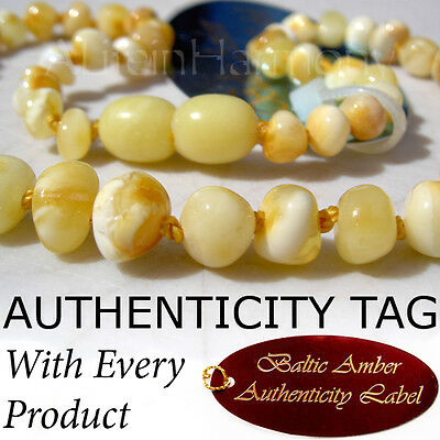 Extremely Rare MILKSCOTCH Baltic Amber BABY CHILD Necklace