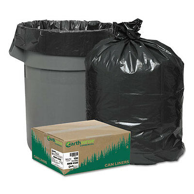 Earthsense Commercial Recycled Can Liners, 56gal, 2mil, 43 x 47, Black,...