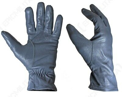 Original German Army Leather Gloves - All Sizes Surplus Military Glove Grey Gray