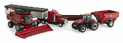 "New Just Out ""Check This Set Out""1//64 Scale Case-IH Big Harvesting Set"