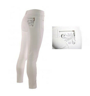 Tagg Childs Competition Breech White with Crystal
