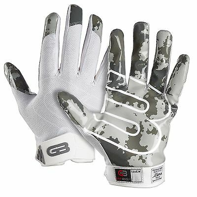 Grip Boost White Football Gloves Adult & Youth Sizes