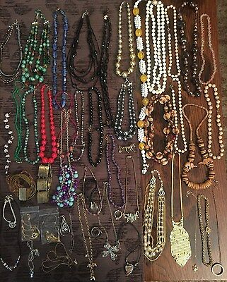 Jewelry Lot Vintage Rings Necklaces JL9302