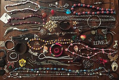 BIG Jewelry Lot Vintage Rings Necklaces JL 002