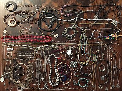 BIG Jewelry Lot Vintage Rings Necklaces JL 004