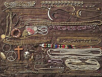 Jewelry Lot Vintage Rings Necklaces JL460