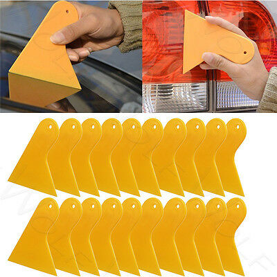 20PCS Orange Car Window Tint Scraper Squeegee Wrapping Vinyl Film Cleaning Tool
