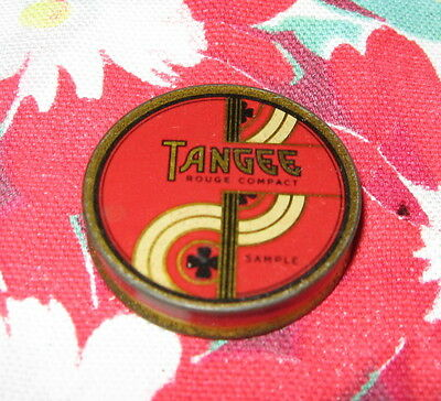 Vintage Art Deco Tangee Theatrical Rouge Tin Compact