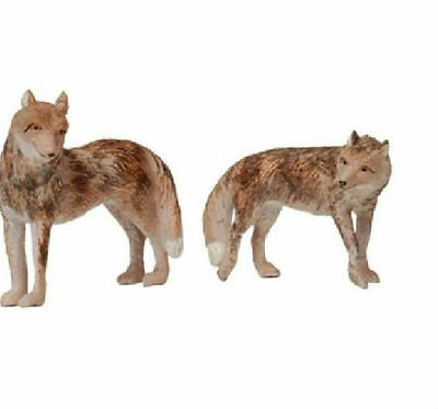 Retired NOAH'S PALS COYOTE wolf Animal PVC figurine figure Model pair RARE