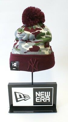 New Era MLB Bobble New York Yankees Women's Camouflage Knit Beanie Fitted Hat
