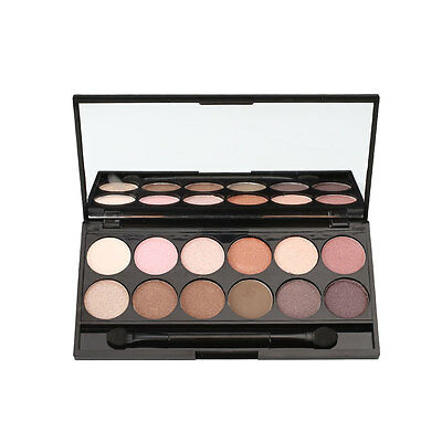 Professional 12 Colors Eye Shadow Powder Smooth Palette Makeup Natural Charms