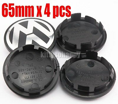 4 pcs 65mm Wheel Center Cap Hub Cover for VW Volkswagen Golf GTI PASSAT JETTA