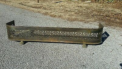 Vintage Brass Claw Foot Fireplace Bumper