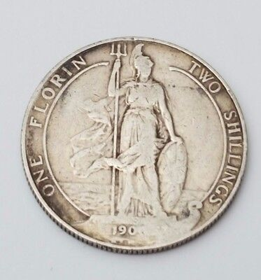 1907 - Silver - Two Shillings / Florin Great Britain - King Edward VII - UK Coin