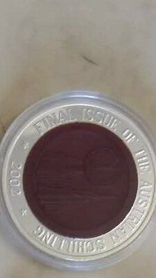 2002 korea  final issue austrian schilling silver  COIN