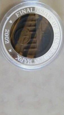2002 korea  final issue german mark silver  COIN