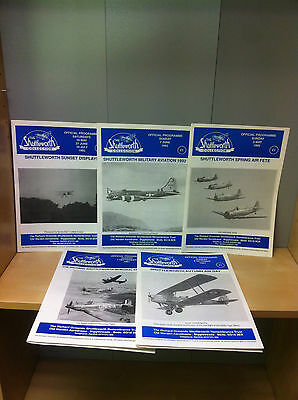 Job Lot Collection of The Shuttleworth Collection Official Programme Magazines