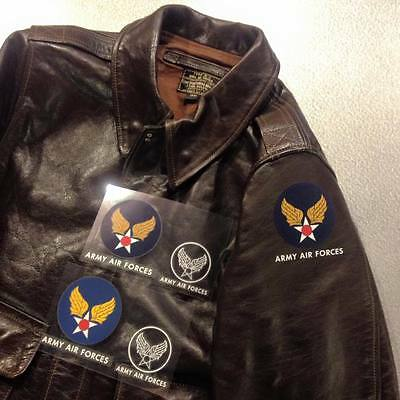 ARMY AIR FORCES / ARMY AIR CORPS / AAF DECAL for A-2, B-3, D-1 flight jacket.