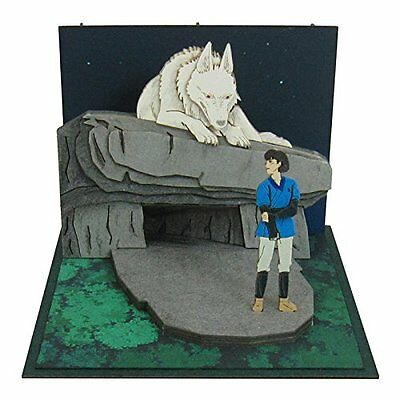 Sankei Studio Ghibli mini Princess Mononoke  ashitaka papercraft MP07-42 F/S /