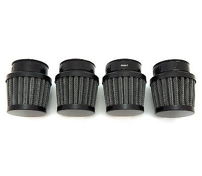Small Black 39mm Custom Motorcycle Air Filter Pod Set - Honda CB500 CB550 CB750